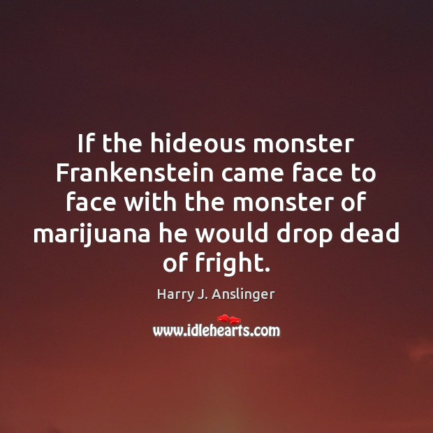 Image, If the hideous monster Frankenstein came face to face with the monster