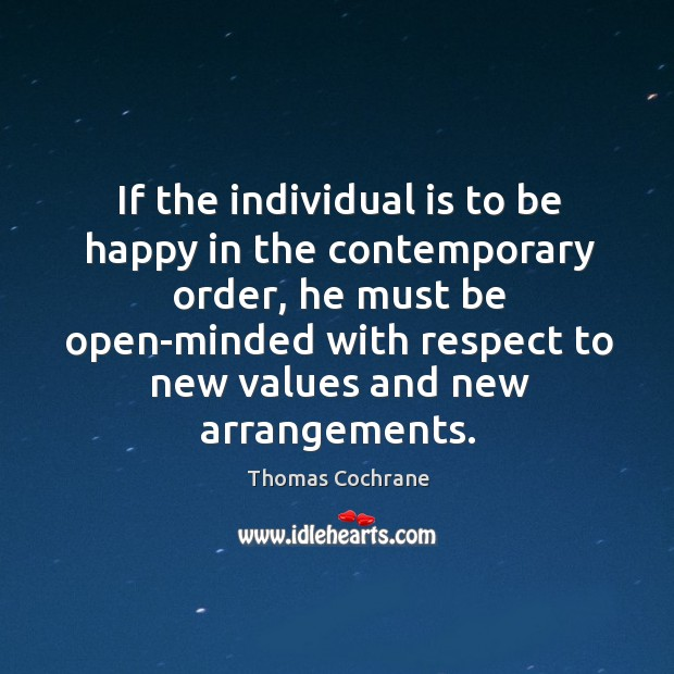 If the individual is to be happy in the contemporary order Image