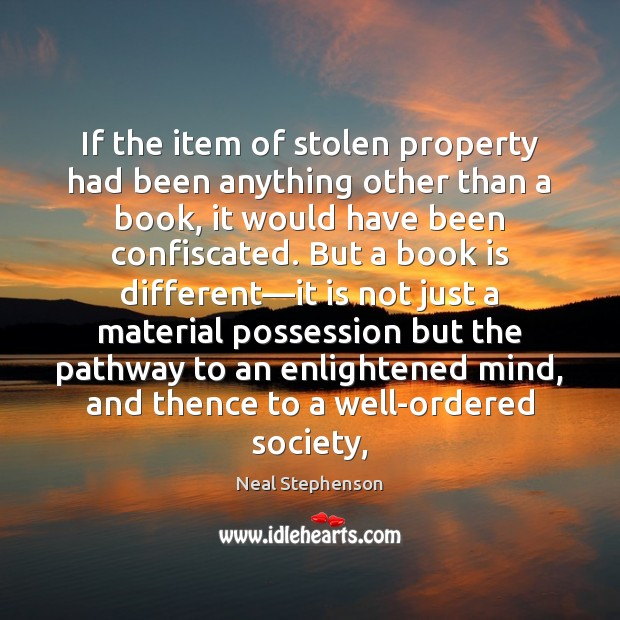 If the item of stolen property had been anything other than a Books Quotes Image