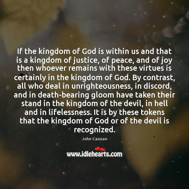 Image, If the kingdom of God is within us and that is a