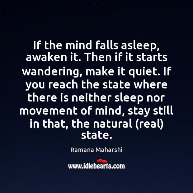 If the mind falls asleep, awaken it. Then if it starts wandering, Image