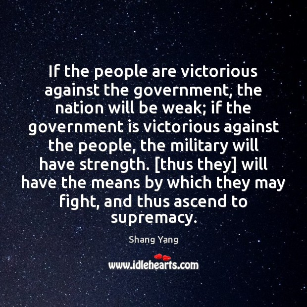 If the people are victorious against the government, the nation will be Image
