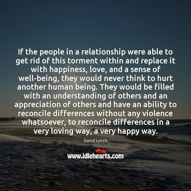 If the people in a relationship were able to get rid of Image