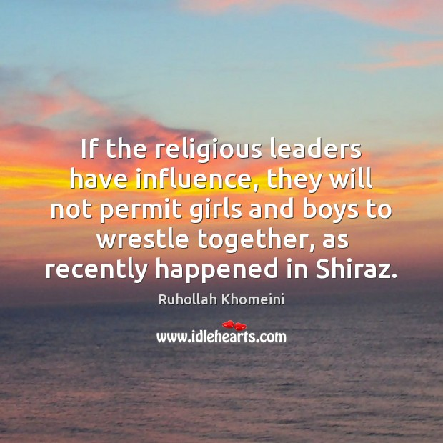 Image, If the religious leaders have influence, they will not permit girls and