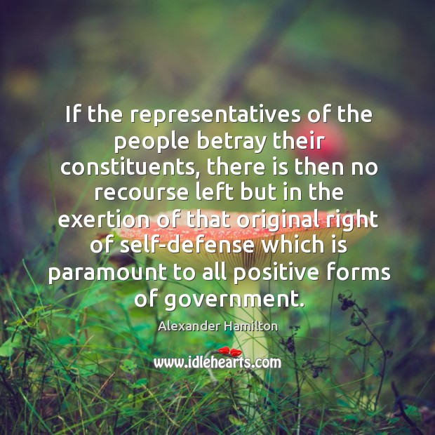 Image, If the representatives of the people betray their constituents, there is then