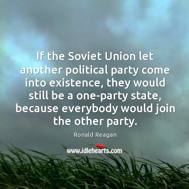 Image, If the soviet union let another political party come into existence