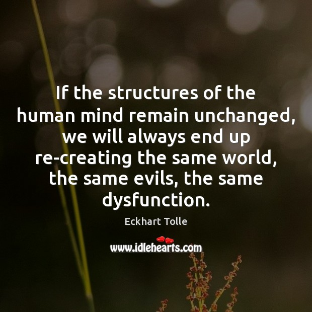 If the structures of the human mind remain unchanged, we will always Image