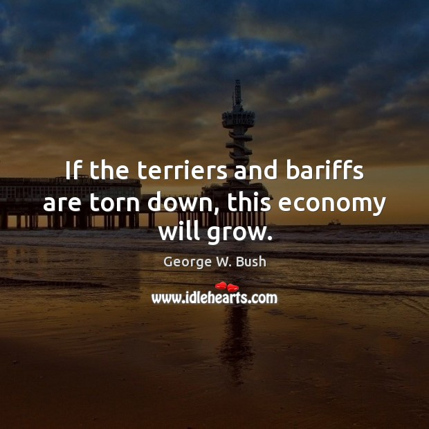 Image, If the terriers and bariffs are torn down, this economy will grow.