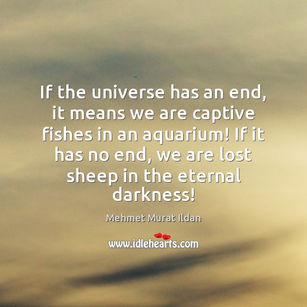 Image, If the universe has an end, it means we are captive fishes