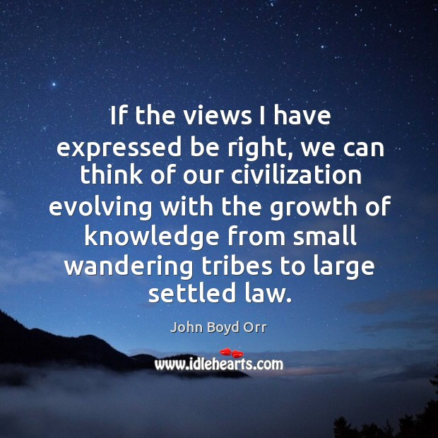 If the views I have expressed be right, we can think of our civilization evolving with the Image