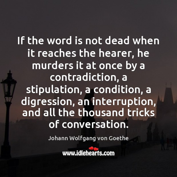 If the word is not dead when it reaches the hearer, he Image