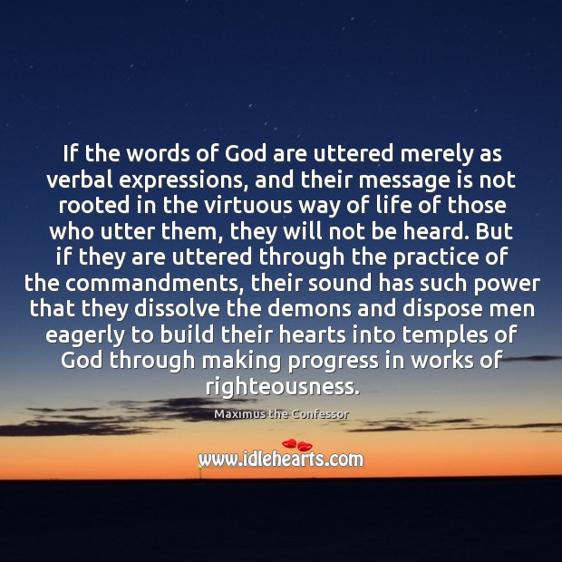 If the words of God are uttered merely as verbal expressions, and Maximus the Confessor Picture Quote