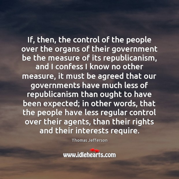 If, then, the control of the people over the organs of their Image