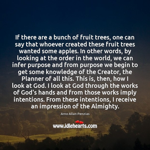 Image, If there are a bunch of fruit trees, one can say that