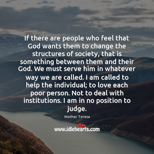 Image, If there are people who feel that God wants them to change