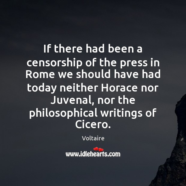 If there had been a censorship of the press in Rome we Image