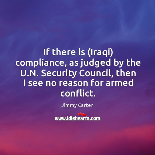 Image, If there is (iraqi) compliance, as judged by the u.n.