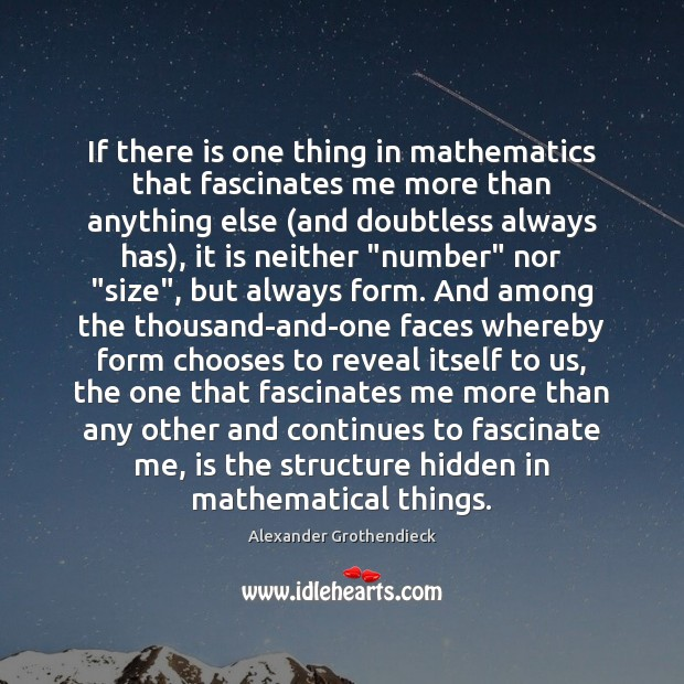 Image, If there is one thing in mathematics that fascinates me more than
