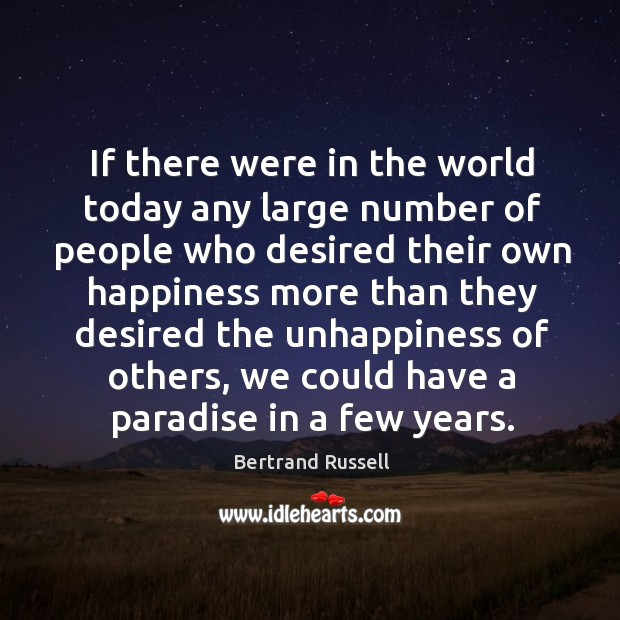 Image, If there were in the world today any large number of people who desired their own