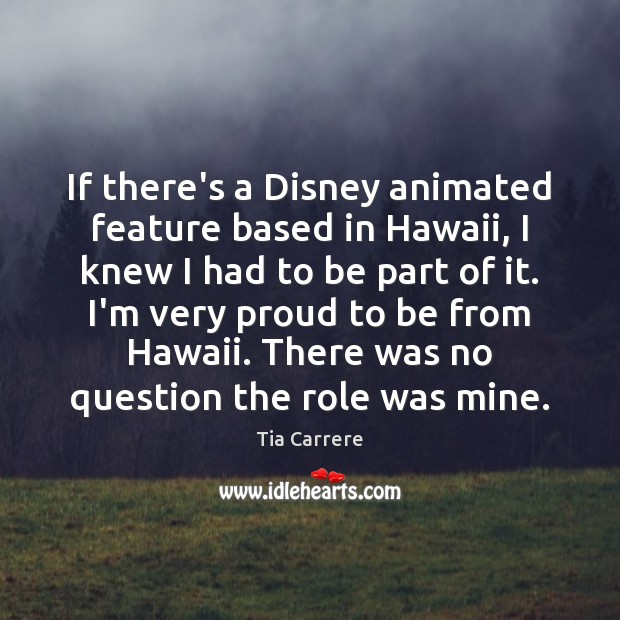 Image, If there's a Disney animated feature based in Hawaii, I knew I