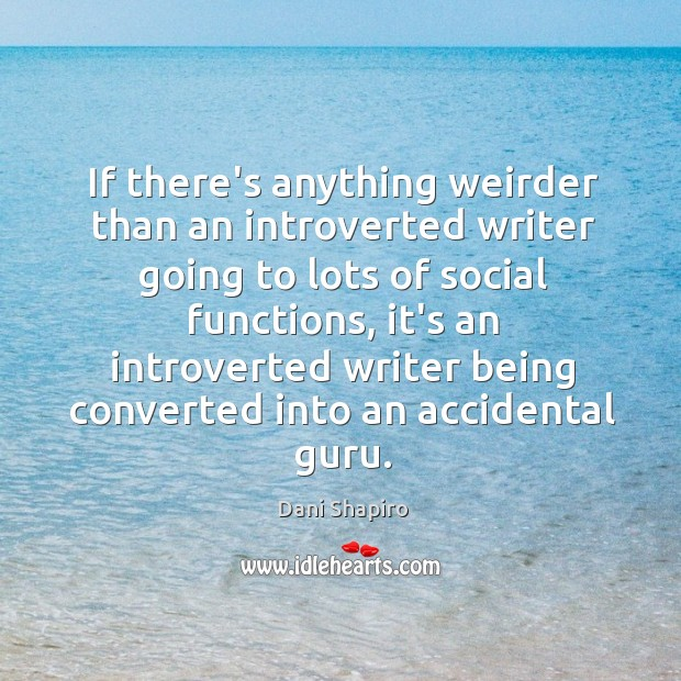 If there's anything weirder than an introverted writer going to lots of Image