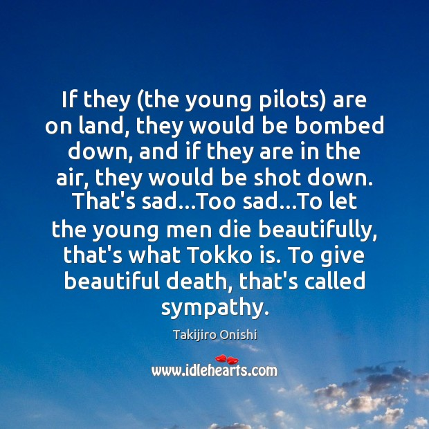 If they (the young pilots) are on land, they would be bombed Image