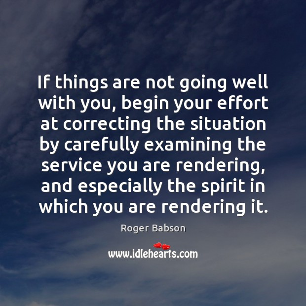 If things are not going well with you, begin your effort at Image