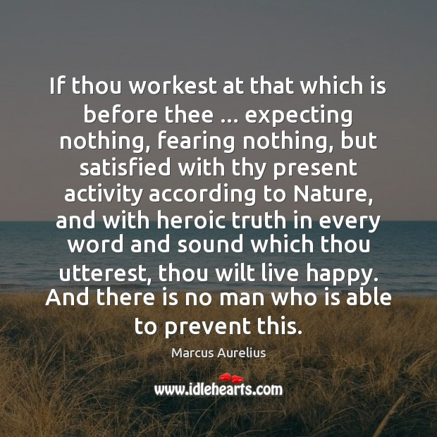 Image, If thou workest at that which is before thee … expecting nothing, fearing