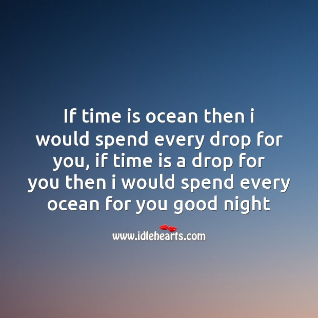 Image, If time is ocean then I would spend