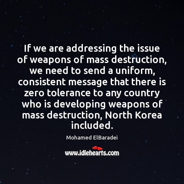 If we are addressing the issue of weapons of mass destruction, we Image