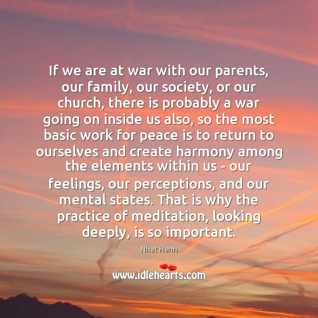 If we are at war with our parents, our family, our society, Image
