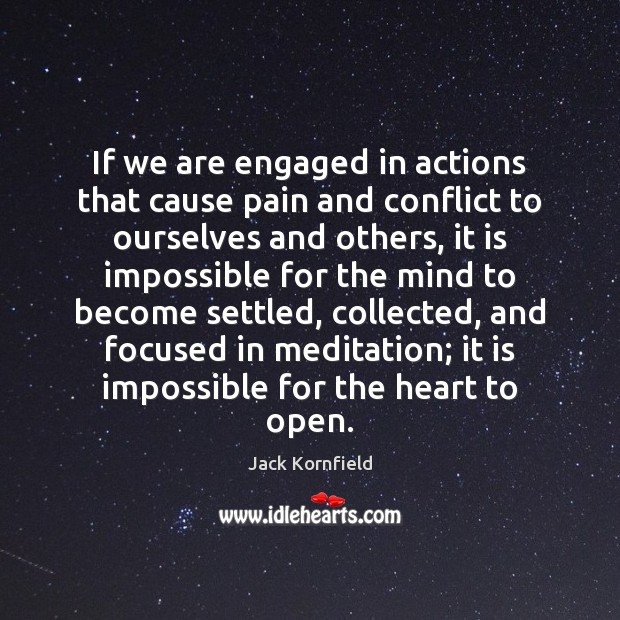 If we are engaged in actions that cause pain and conflict to Image