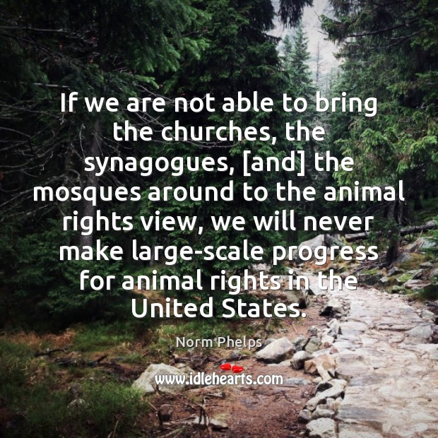 Image, If we are not able to bring the churches, the synagogues, [and]