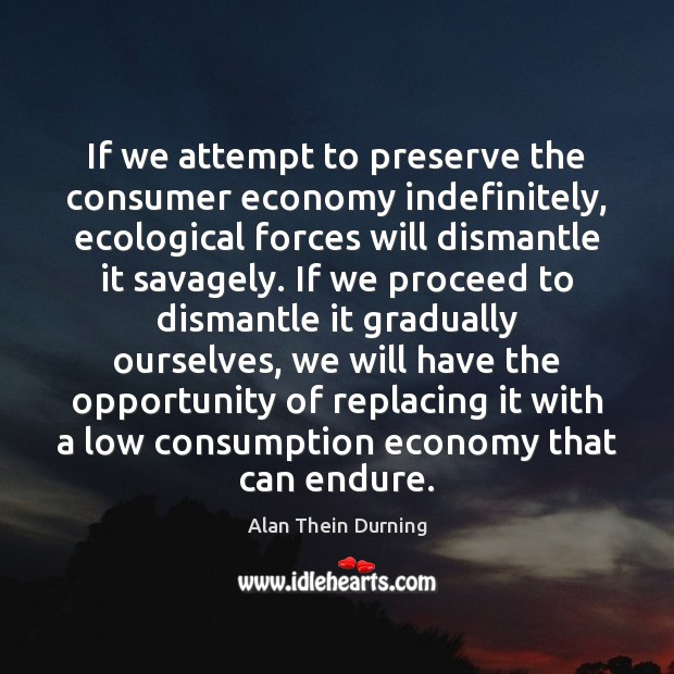 Image, If we attempt to preserve the consumer economy indefinitely, ecological forces will