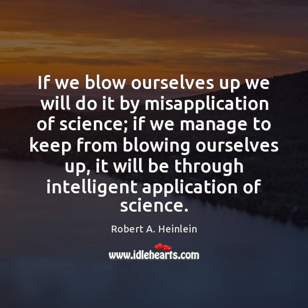 If we blow ourselves up we will do it by misapplication of Image