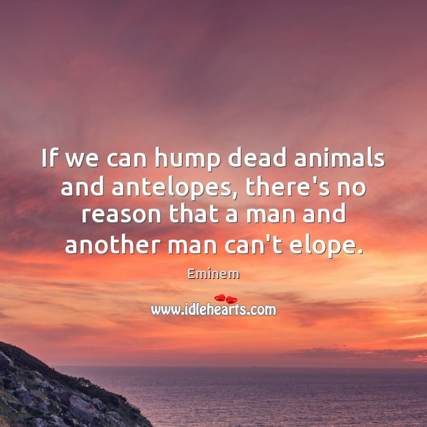Image, If we can hump dead animals and antelopes, there's no reason that