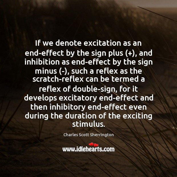If we denote excitation as an end-effect by the sign plus (+), and Image