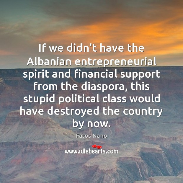 Image, If we didn't have the Albanian entrepreneurial spirit and financial support from
