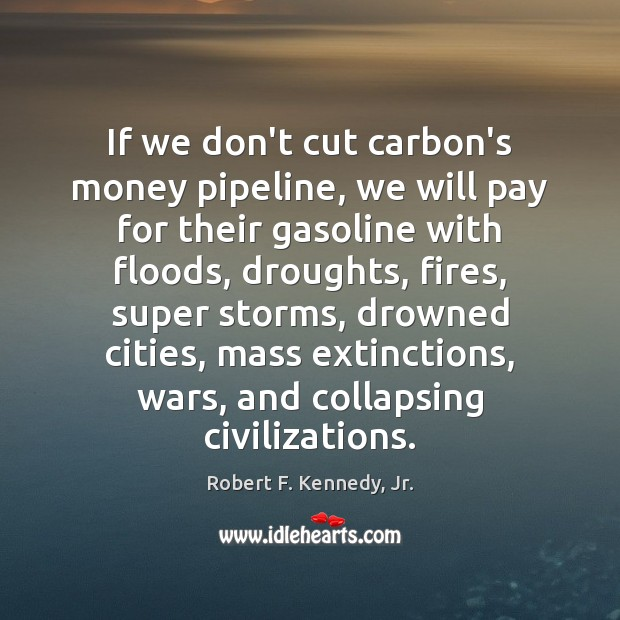 If we don't cut carbon's money pipeline, we will pay for their Image