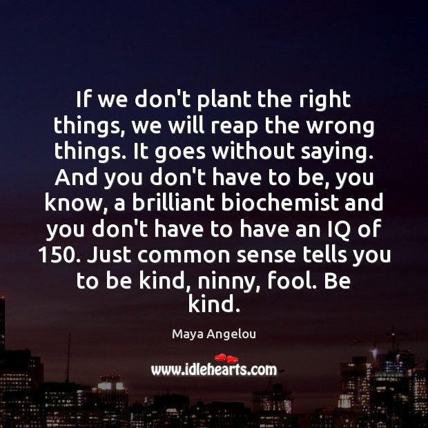 Image, If we don't plant the right things, we will reap the wrong