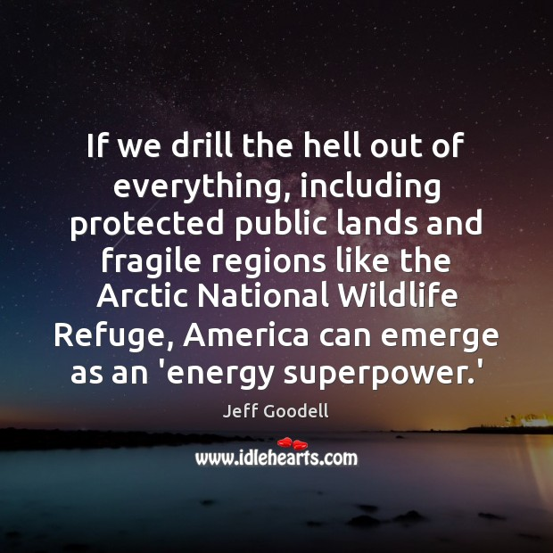 If we drill the hell out of everything, including protected public lands Image