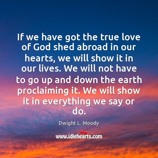 If we have got the true love of God shed abroad in Image
