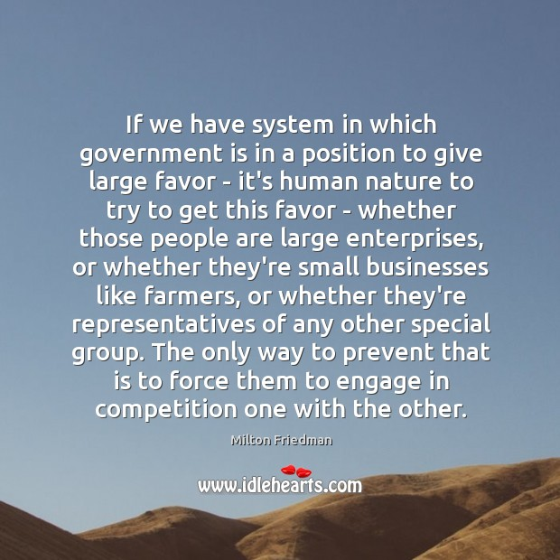 If we have system in which government is in a position to Image