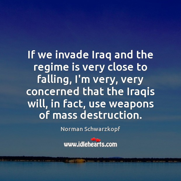 If we invade Iraq and the regime is very close to falling, Image