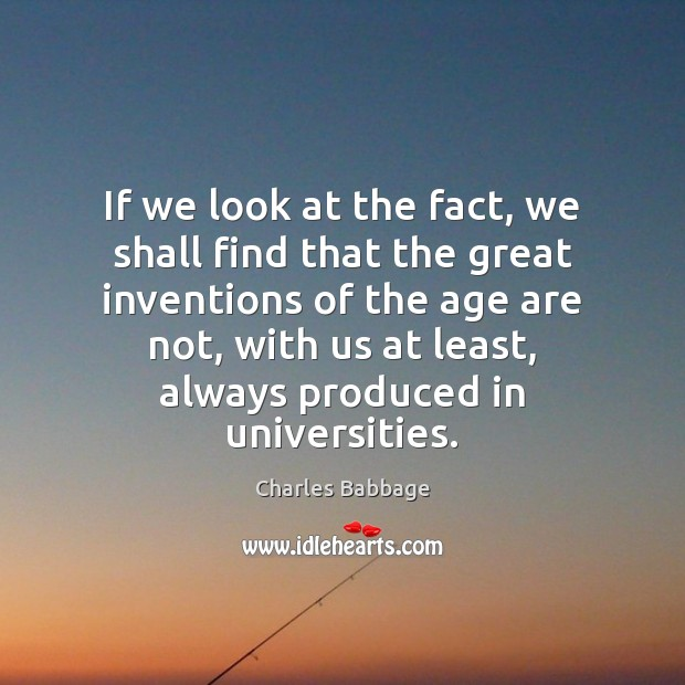 Image, If we look at the fact, we shall find that the great