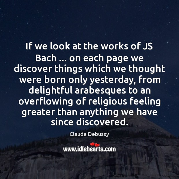 If we look at the works of JS Bach … on each page Image