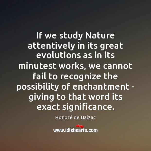 Image, If we study Nature attentively in its great evolutions as in its