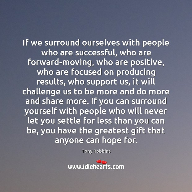 Image, If we surround ourselves with people who are successful, who are forward-moving,