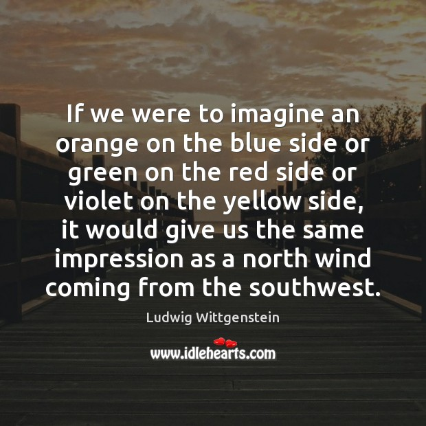 Image, If we were to imagine an orange on the blue side or