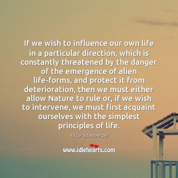 Image, If we wish to influence our own life in a particular direction,